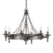 Warwick 6 Light Medieval Style Chandelier in a Graphite Black Finish - ELSTEAD WR6 GR